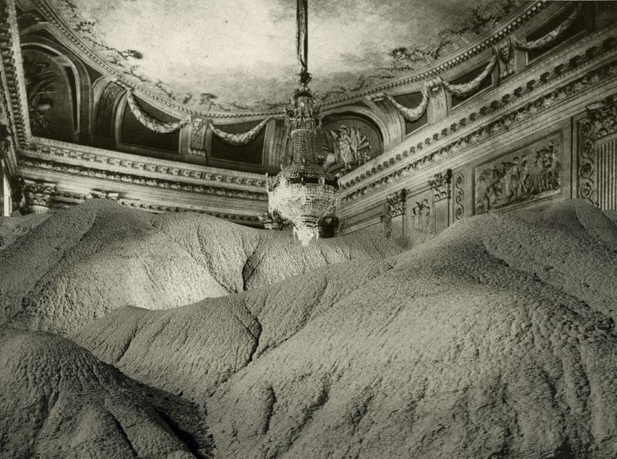 Interior con barro